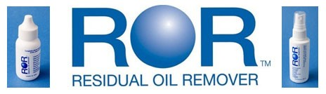 Residual Oil Remover logo and bottles