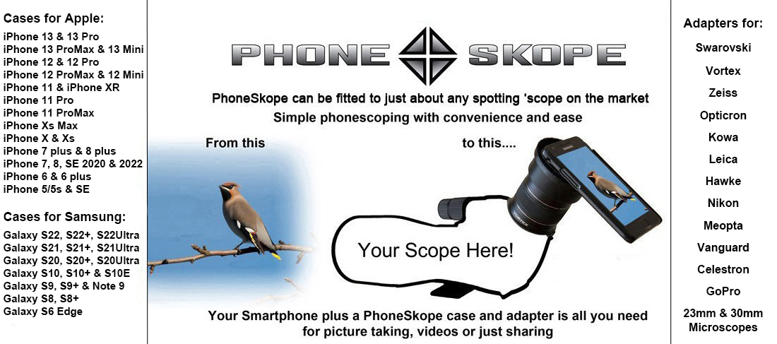 Phoneskope can be fitted to just about any spotting scope on the market. Simple phonescoping with convenience and ease. Your Smartphone plus a Phoneskope Case and Phoneskope Adapter is all you need for taking pictures, videos or just sharing.